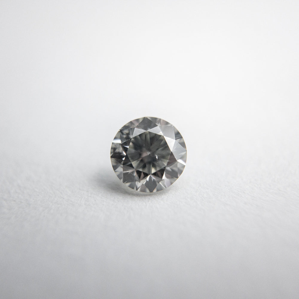 0.46ct 4.80x4.77x3.20mm Fancy Grey Round Brilliant 18273-08
