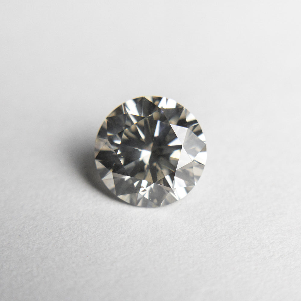 Load image into Gallery viewer, 1.23ct 6.82x6.80x4.20mm Fancy Grey Round Brilliant 18475-01