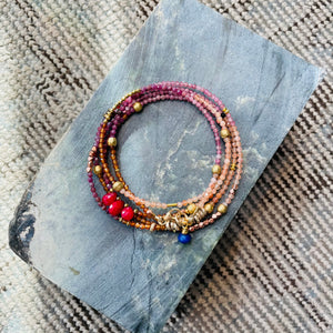 Beaded Wrap - Berry