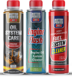 Engine power restoration kit Engine flush, oil system care, fuel system cleaner MotorPower Care