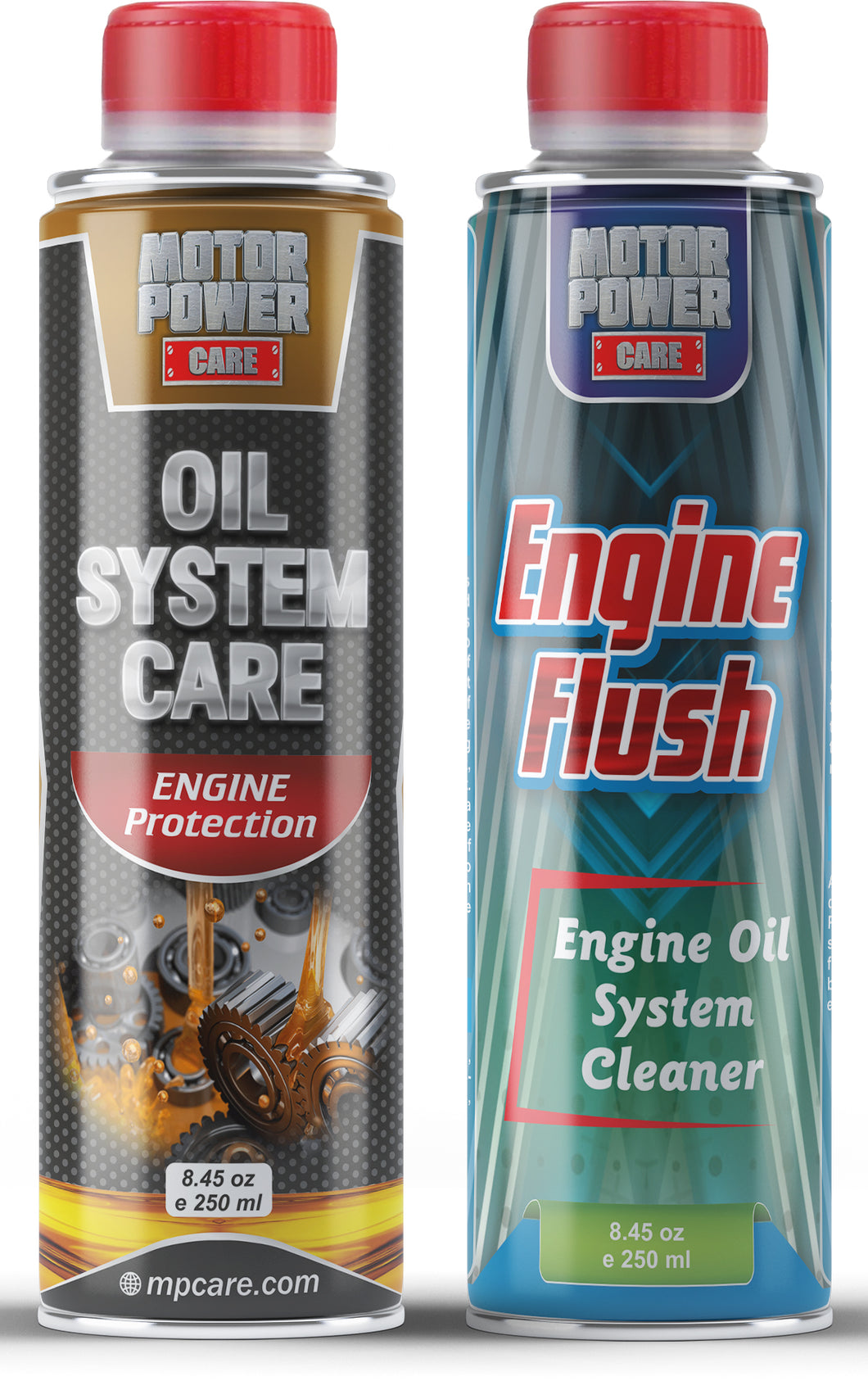 Engine flush & oil system care additive, engine treatment kit MotorPower Care