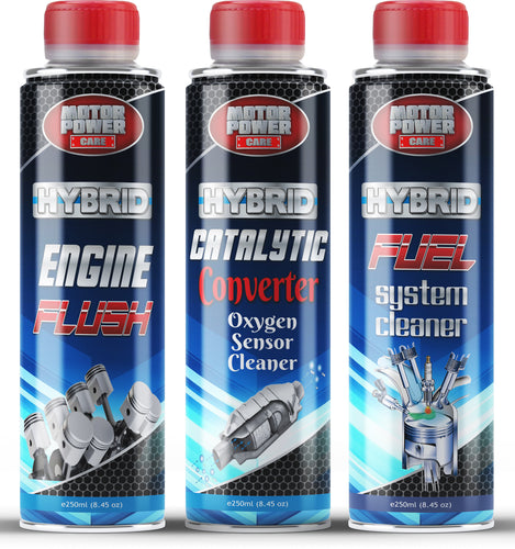 Hybrid Engine Fuel Additive Engine Flush Catalytic Converter Cleaner Kit 3 cans