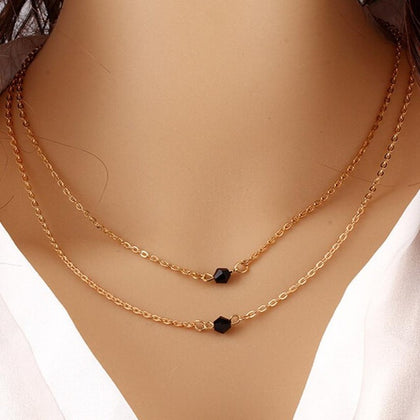 Rose Gold Double Chain Necklace