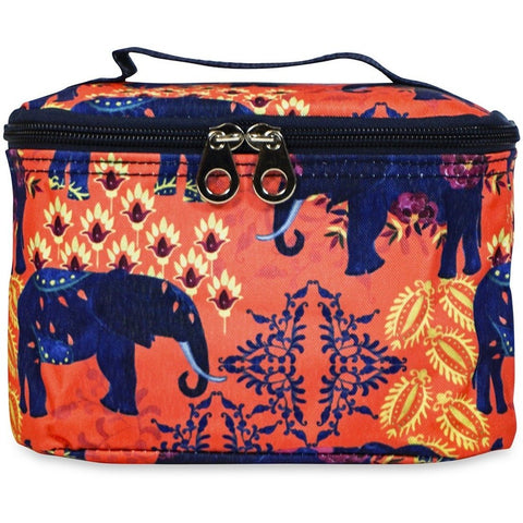 Tropical Elephant Makeup Bag