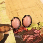 2019 New Retro fashion Lady European Style Round Crystal Stud Earring