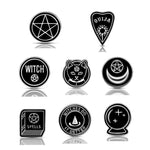 Punk Alloy Corsages Women Witch Halloween Costume Brooch Lapel Pin Jewelry Lapel pin Enamel pin Backpack Bag Accessories Witch