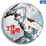 1pcs Anime Cells at Work Cosplay Badge Cartoon Hataraku Saibou Platelet Pretty Brooch Pins Collection bags Badges for Backpacks