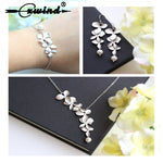 Cxwind Fashion Orchid Flower Pendant Boho Flower Necklace Charm Jewelry For Women Party Dress Accessories Gift