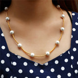 2019 Simulated Pearl Necklace Top Quality Anti-Allergy