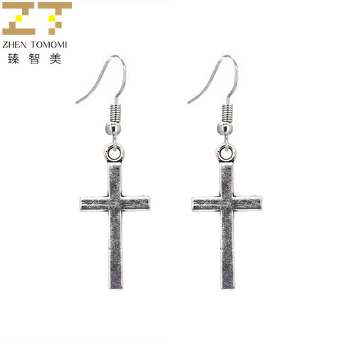 Retro Dangling Cross Earrings 2019
