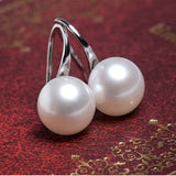 EK913 New Fashion Simulated Pearls Stud Earrings For Women Wedding Girl Fashion Jewelry Sweet Crystal Brincos Bijoux Pendientes