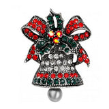 Merry Christmas brooches pins wedding Collar Clip Bells Brooch Accessories costume Jewelry For Women Family Gift home decoration