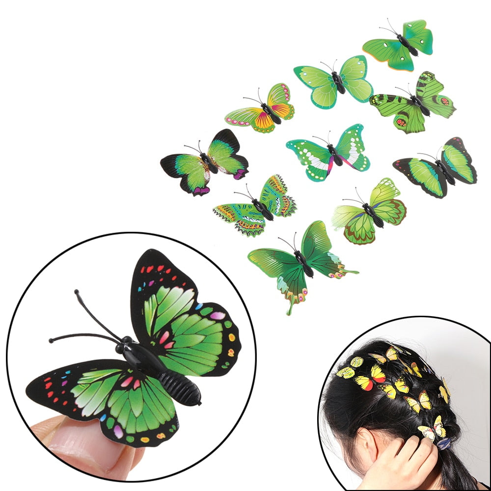 Random Pattern 5Pcs Hot Sale Jewelry Fashion Bridal Hair Accessories Wedding Photography Costume Butterfly Hair Clips