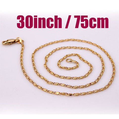 Gold/Silver Link Chain 16-30in