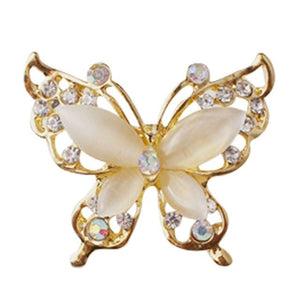 1PCS Women Jewelry Crystal Butterfly Rhinestone Brooch Pin Wedding Party Gift Decor Pin Accessories Women Lady