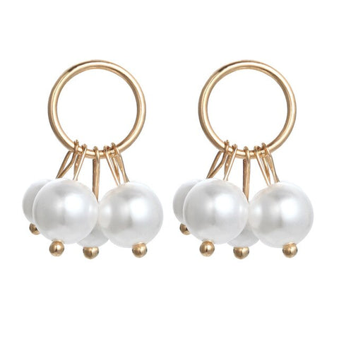 Brincos Natural Pearl Earrings Drop White Earrings For Women Gif Costume Jewelry Earrings Bts Accessories