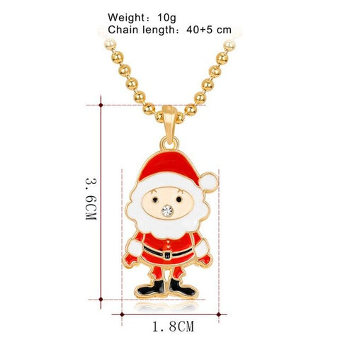 Metal Christmas Snowman Necklace Pendant Christmas Decoration Costume New Year Gift Presents Fashion Christmas Jewelry