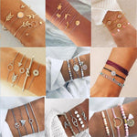 Vintage Costume Gold Color Tie Knot Bracelet Bangles Simple Turtle pineapple Twist Cuff Open Bangles For Women Indian Jewelry