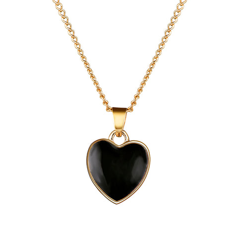 Heart Shape Wedding Elegant Jewelry Set for women Party Gift Fashion Costume Jewelry Set Long Necklace Pendant Earrings Set