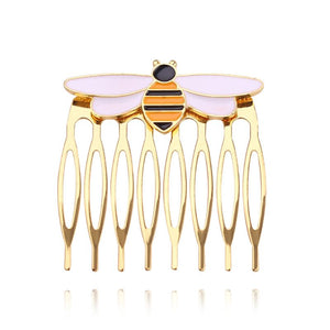 Women hairpins miraculous bee comb gold hair comb ladybug party supplies animal enamel hair jewelry costume