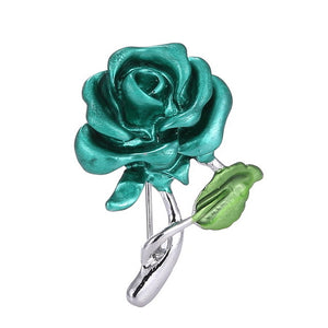 Elegant Rose Flower Brooch Pin Crystal Costume Jewelry Clothes Accessories Jewelry Brooches For Wedding