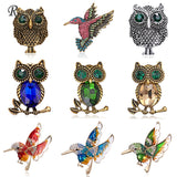 Rinhoo Fashion Animal Bird Parrot Eagle Crystal Brooch Pin Costume Party Wedding Jewelry Brooches Pins For Women Gift