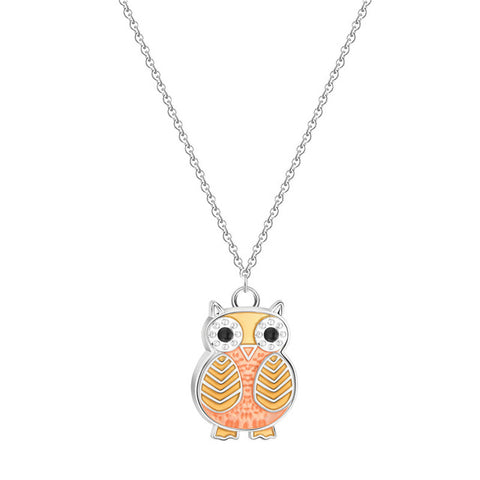 Charming Cute Night Owl Animal Necklace For Women Pet Lovers Pendant Birthday Gift Costumes Cartoon Jewelry Baby Necklaces