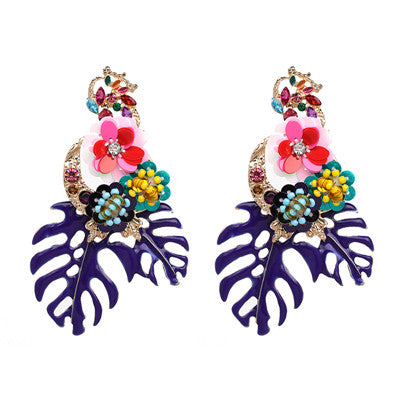 JURAN 2019 Hot Acrylic Resin Leaves Dangle Earring For Women Fashion Tortoiseshell Geometry Acetate Party ZA Jewelry Brincos