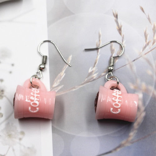 Eclectic Coffee cup earrings