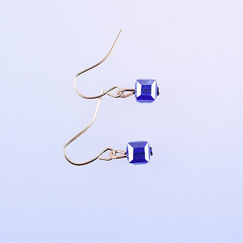 Colorful Cube Crystal Stud Earrings