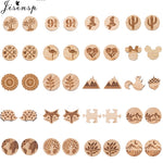 Small Animal Plant Wooden Earrings