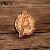 SMJEL Vintage Scarf Brooches for Women Kids Cute Dog Shirt Collar Clip Pin Wooden Brooch Lapel Pins Best Gifts