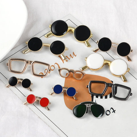 Various Glasses pins Round Lens Sunglasses Brooches Badges Cartoon Enamel Backpack pins For Glasses fan Gifts Jewelry