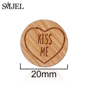 SMJEL Women Wooden Brooches Elegant Mickey Flower Brooches Cartoon Rabbit Snow Mountain Enamel Pins Badges for Clothing Hat