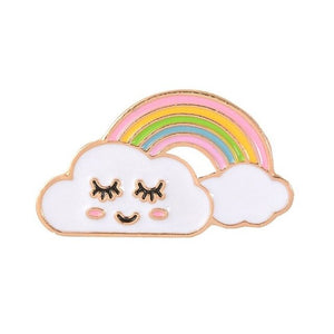 Creative Rainbow Bridge Brooch Pin Enamel Drop Oil Alloy Decorative Cartoon Lapel Pin LGBT Badge Denim Shirt Collar Jewelry Gift
