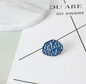 Hot New White Blue Human Organs Teeth Brain Heart Eyeball Statement Cool Fashion Brooches Collar Pin Jewelry for Men Women Teens