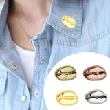 Metal Pin Lovely Shape Coffee Beans Coffee Brooch Shirt Bag Cap Jackets Badge  Coffee Bean Shaped Brooches Collar Pin Jewelry