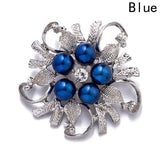 Hot Sale Flower Leaf Broches Pins  For Women Vintage Imitation Pearl Brooch Female Jewelry