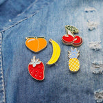 Creative Girls Corsages Women Cartoon Fruit Shaped Brooch Lapel Pin Jewelry Lapel Pin Badge Plant Jewelry Gift for Kids