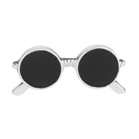 Korean Jewelry Creative Black Glasses Brooch Pin For Boys Girls Personality Bag Clothes Decoration Fashion Jewelry Gift