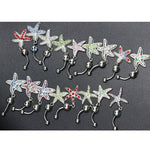 Crystal Sea Stars Dangle Body Piercing Navel Belly Button Ring Bar Women Dance Ring