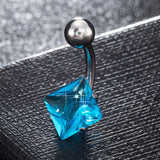 Stylish zircon Navel Ring Belly Button Navel nail puncture products
