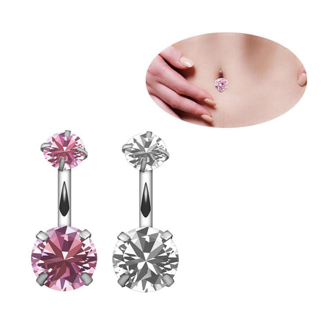1PC New Brand Zircon Style Crystal Body Jewelry Belly Button Ring Body Piercing Navel Piercing