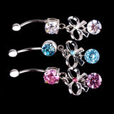 Medical Stainless Steel Umbilical Zircon Belly Button Ring Charming Body Piercing Jewelry Accessories