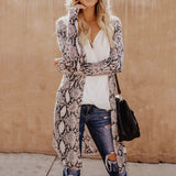 Animal Print Women's Long Sleeve Cardigan Jacket
