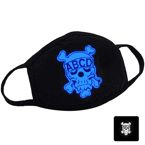 Glow In Dark Cotton Anime Facemask