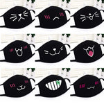 Korean pop anime mask Winter Warm Mouth fabric Mask dust mask Cartoon Face dustproof cotton Anti reusable double mouth mask