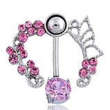 Multi style Navel Piercing Surgical Stainless Steel Belly Button Rings Body Jewelry Percing Navel Piercings