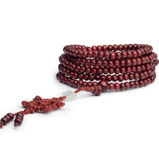Sandalwood Buddhist Buddha Meditation Strand 6mm 216 Prayer Bead Mala Bracelet Necklace