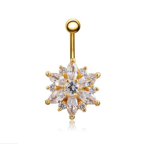 Multi style High quality Medical Steel Crystal Rhinestone Belly Button Ring Dangle Navel Body Jewelry Piercings